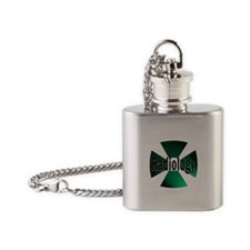 radioactive radiology green Flask Necklace