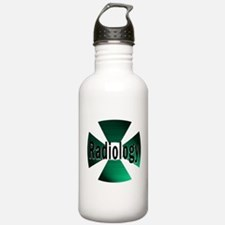 radioactive radiology green Water Bottle