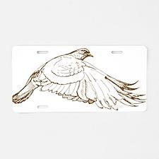 White Pigeon Aluminum License Plate