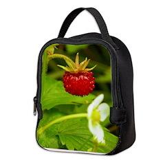 Wild Strawberry Neoprene Lunch Bag