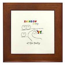 Rainbow Sheep of the Family Framed Tile