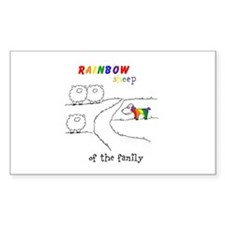 Rainbow Sheep of the Family Decal