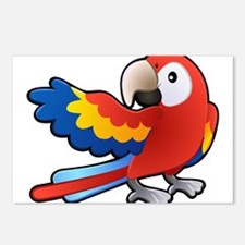 Red Parrot Postcards (Package of 8)