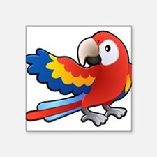 Red Parrot Sticker