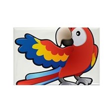 Red Parrot Rectangle Magnet
