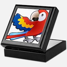 Red Parrot Keepsake Box