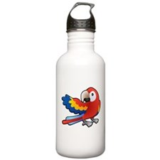 Red Parrot Water Bottle