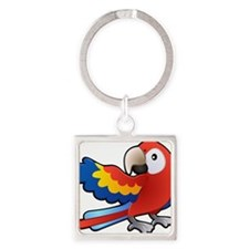 Red Parrot Keychains