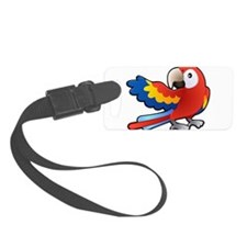 Red Parrot Luggage Tag