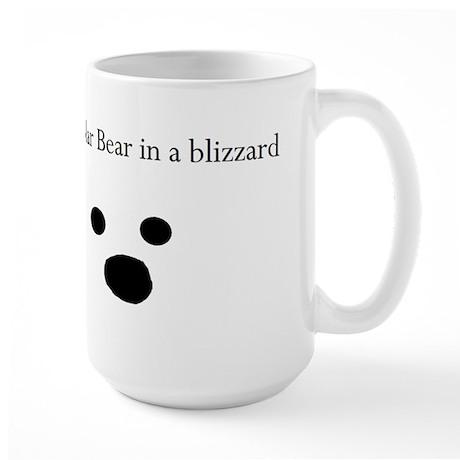 Polar Bear in a blizzard Large Mug