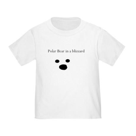 Polar Bear in a blizzard Toddler T-Shirt