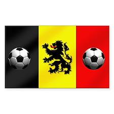 Belgium Football Flag Decal
