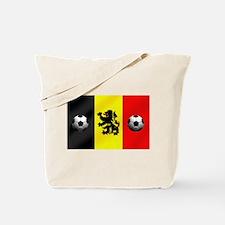 Belgium Football Flag Tote Bag