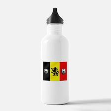 Belgium Football Flag Water Bottle