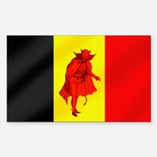 Belgian Red Devils Sticker (Rectangle)