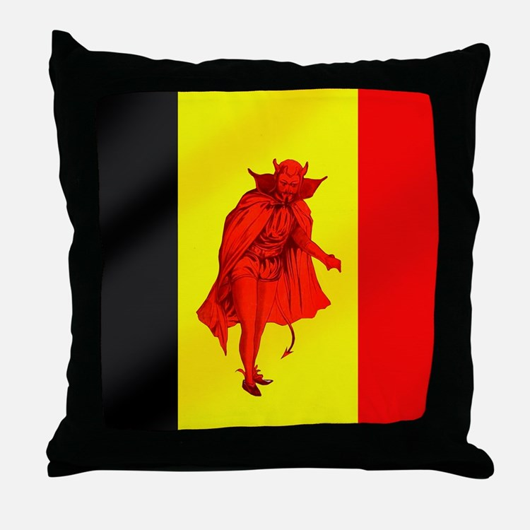Belgian Red Devils Throw Pillow