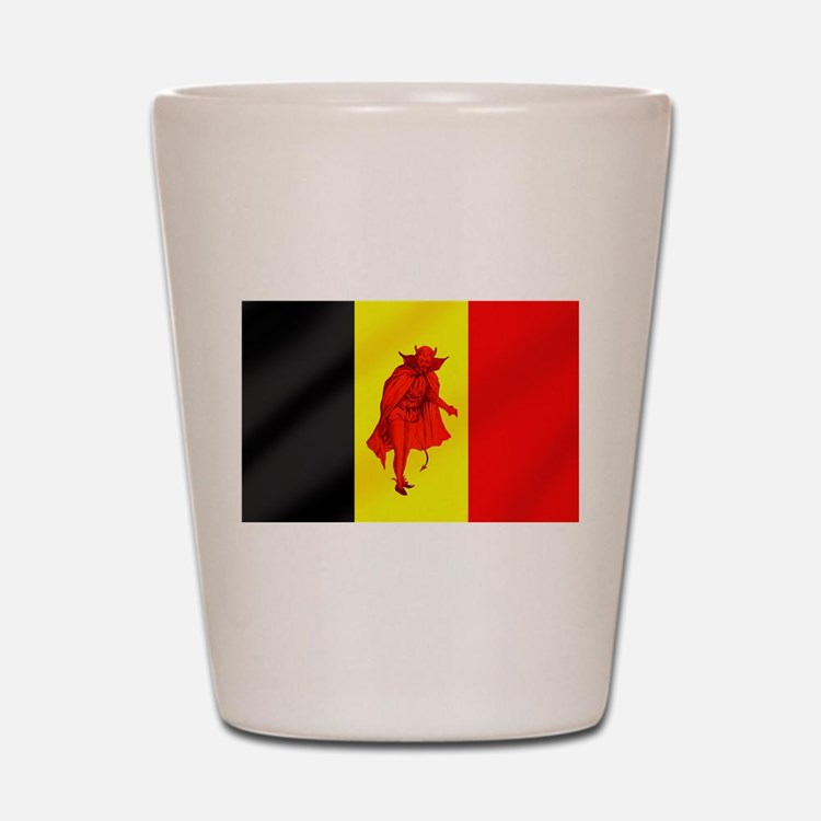 Belgian Red Devils Shot Glass