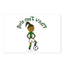 Dark Green Soccer Postcards (Package of 8)