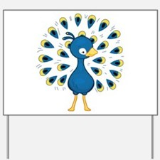 Baby Blue Peacock Yard Sign