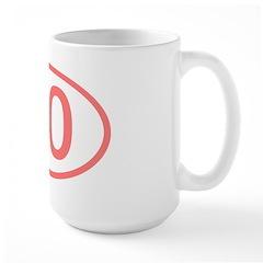 Number 60 Oval Mug