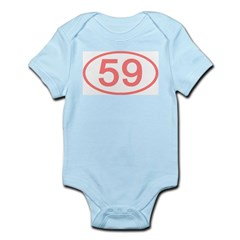 Number 59 Oval Infant Bodysuit