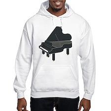 Dark Grey Baby Grand Piano Hoodie