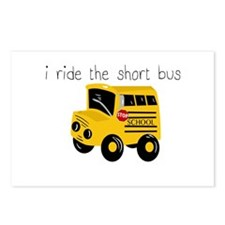 I ride the short bus (txt) Postcards (Package of 8