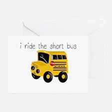 I ride the short bus (txt) Greeting Card
