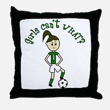 Light Green Soccer Throw Pillow