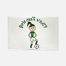 Light Green Soccer Rectangle Magnet