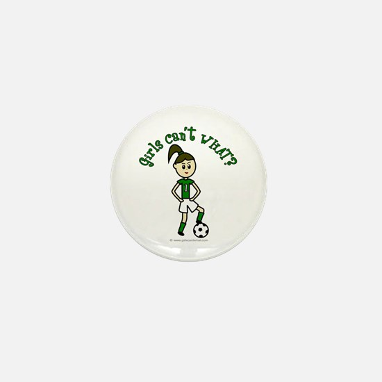 Light Green Soccer Mini Button