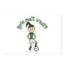 Light Green Soccer Postcards (Package of 8)