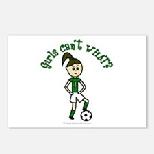 Light Green Soccer Postcards (Package of 8)