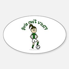 Light Green Soccer Oval Decal