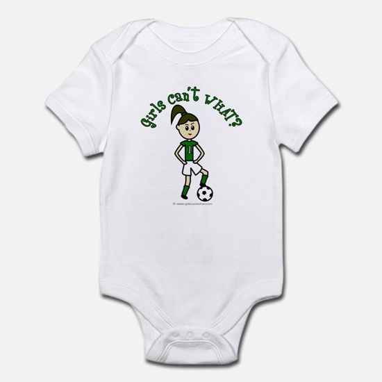 Light Green Soccer Infant Bodysuit