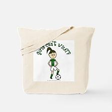 Light Green Soccer Tote Bag