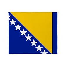 Flag of Bosnia Throw Blanket