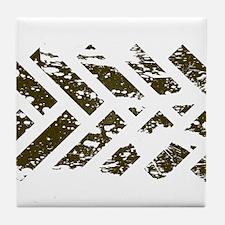 Mud Tracks 2 Tile Coaster