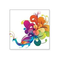 Rainbow Peacock Sticker