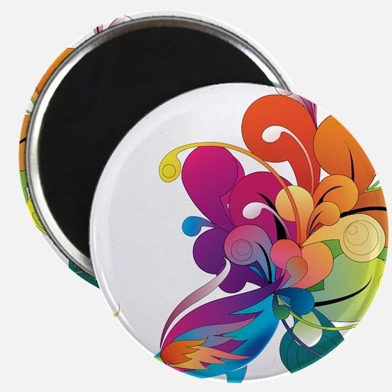 "Rainbow Peacock 2.25"" Magnet (100 pack)"