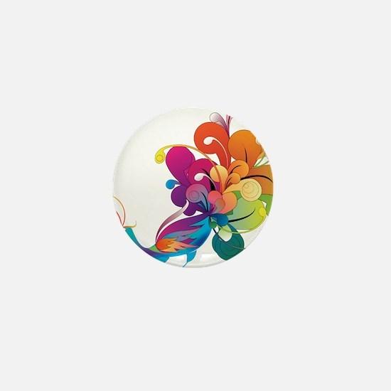 Rainbow Peacock Mini Button (10 pack)