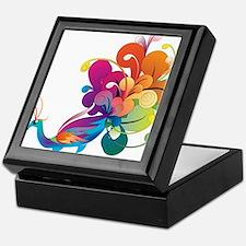 Rainbow Peacock Keepsake Box