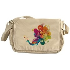Rainbow Peacock Messenger Bag