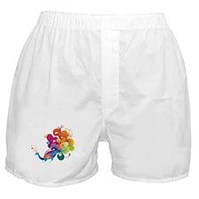 Rainbow Peacock Boxer Shorts
