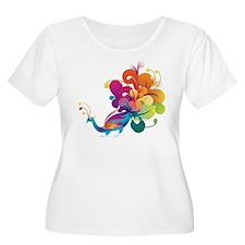 Rainbow Peacock Plus Size T-Shirt