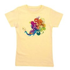 Rainbow Peacock Girl's Tee