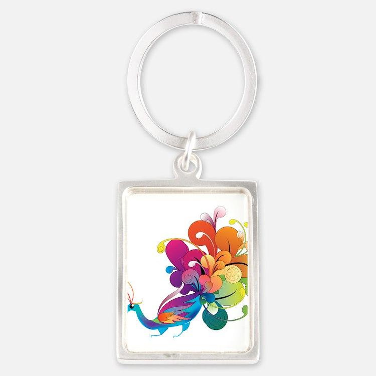 Rainbow Peacock Keychains