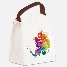 Rainbow Peacock Canvas Lunch Bag