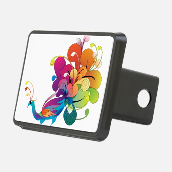 Rainbow Peacock Hitch Cover