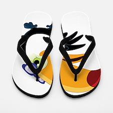 Cartoon Toucan Flip Flops